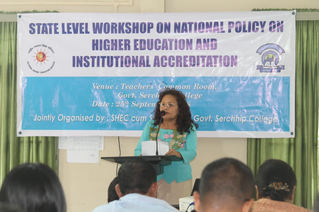 State Level Workshop On National Policy On Higher Education & Institutional Accreditation