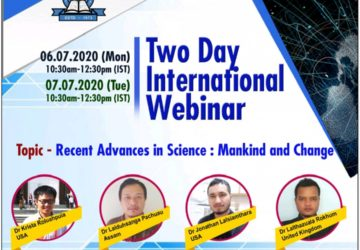 TWO DAY INTERNATIONAL WEBINAR ON RECENT ADVANCE IN SCIENCE : MANKIND AND CHANGE